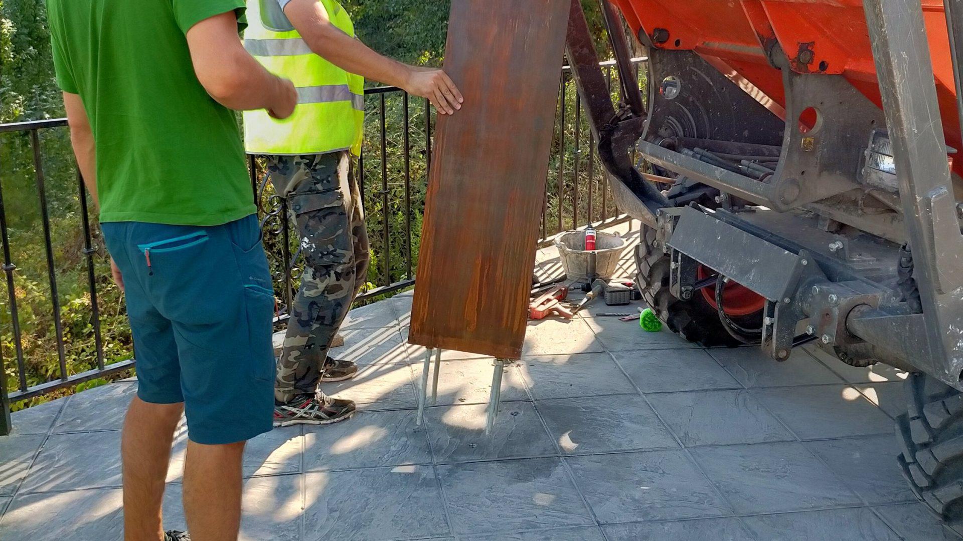 Peana para escultura Lorca. Viznar